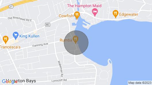Hamptons Waterfront- On A Sandy Beach- Relax & Getaway! Map