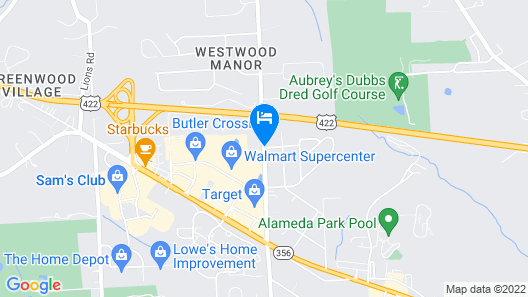 Holiday Inn Express & Suites Butler Map