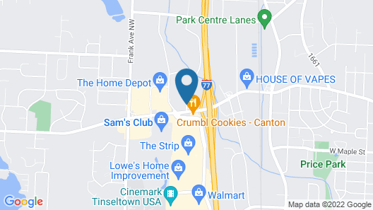Rodeway Inn Near Hall of Fame Map