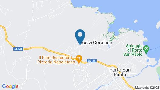 Hotel Ollastu Map