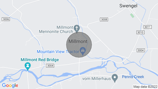 Tiny House Hideaway in Millmont, PA Map