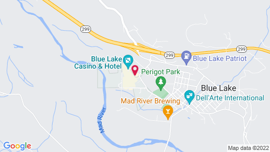 Blue Lake Casino & Hotel Map