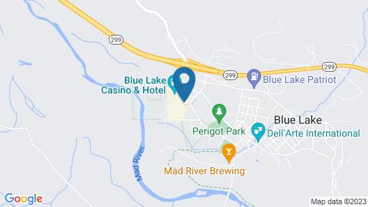 Blue Lake Casino & Hotel Map