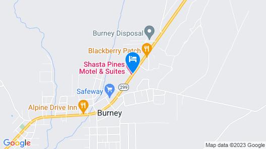 Shasta Pines Motel & Suites Map