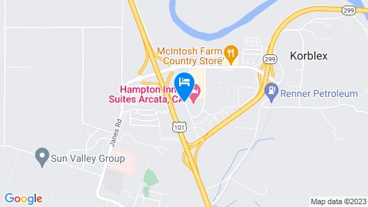 Motel 6 Arcata, CA - Humboldt University Map