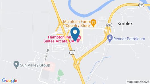 Hampton Inn & Suites Arcata Map