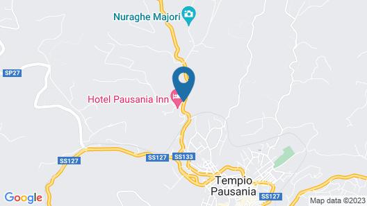 Pausania Inn Map