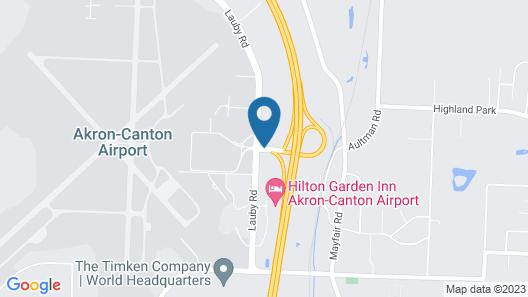 Hilton Garden Inn Akron Canton Airport Map
