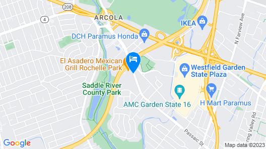 Ramada by Wyndham Rochelle Park Near Paramus Map