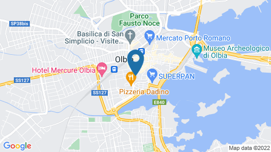 NG Guest House Olbia Map
