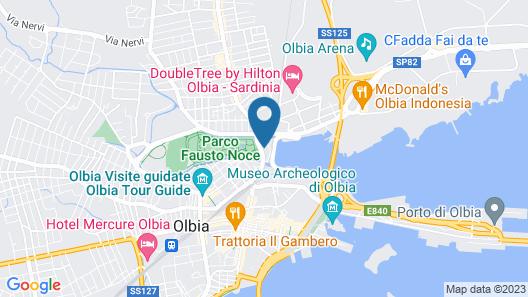 Hotel Martini Olbia Map