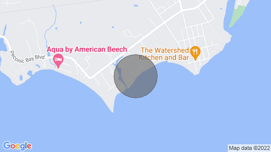 Beachfront Home on a Private Beach in Wine Country Map