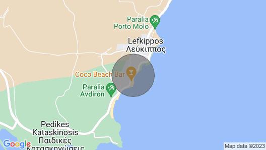 Avdira Küstenhaus Map
