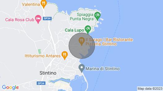 Cala Lupo Stintino Monolocale Fronte Mare 32 mq con Giardino Map