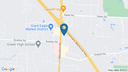 Cambria Hotel Akron - Canton Airport Map