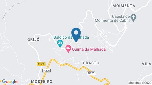 Quinta da Malhada - A. L. 14 km from Paiva Walkways Map