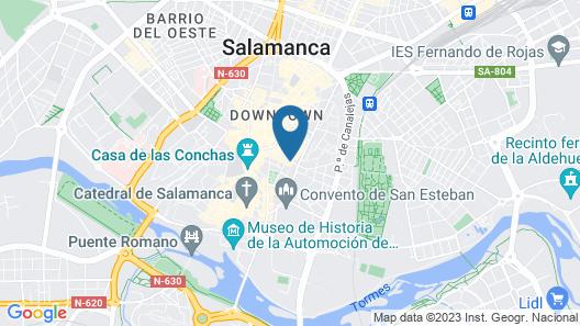 San Justo Plaza Apartamentos Map