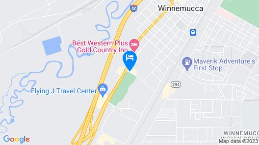 Super 8 by Wyndham Winnemucca NV Map