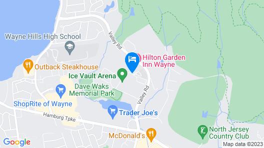 Hilton Garden Inn Wayne Map