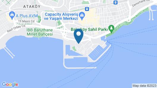 Sheraton Istanbul Atakoy Hotel Map