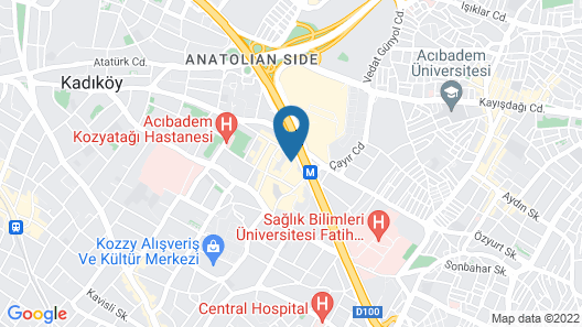 ByOtell Hotel Istanbul Map