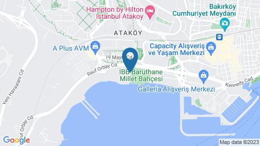 Hyatt Regency Istanbul Ataköy Map