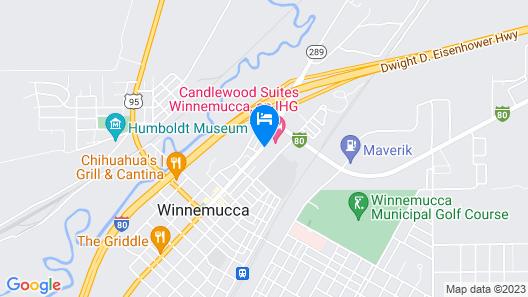 Candlewood Suites Winnemucca, an IHG Hotel Map