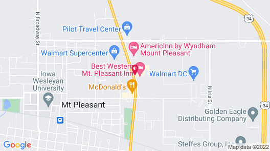 Best Western Mt. Pleasant Inn Map