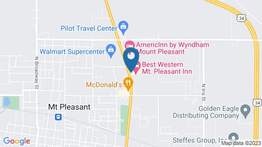Best Western Mt. Pleasant Inn Map