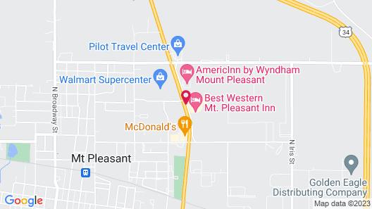 Super 8 by Wyndham Mt Pleasant Map