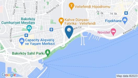 Hilton Istanbul Bakirkoy Map