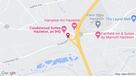 Candlewood Suites HAZLETON, an IHG Hotel Map