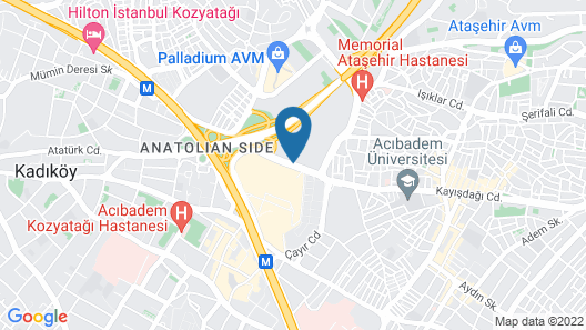 Istanbul Marriott Hotel Asia Map