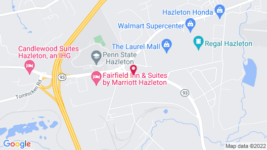 Fairfield Inn & Suites by Marriott Hazleton Map