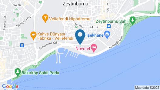 Radisson Blu Hotel Istanbul Ottomare Map