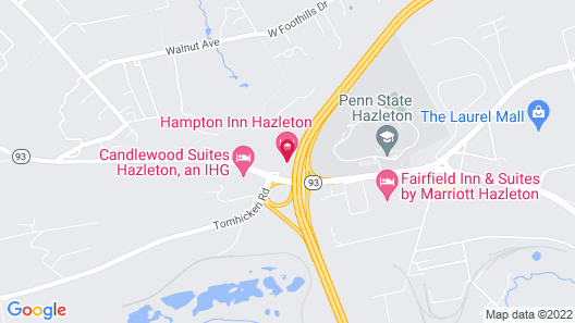 Hampton Inn Hazleton Map