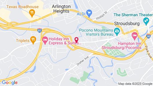 Stroudsburg Inn Map