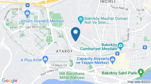 Hampton by Hilton Istanbul Atakoy Map