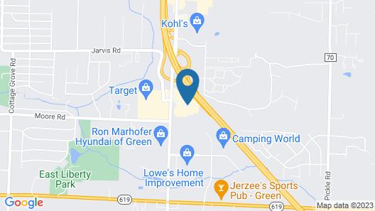 Residence Inn Akron South/Green Map