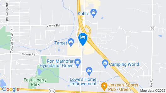 Hampton Inn Akron-South Map