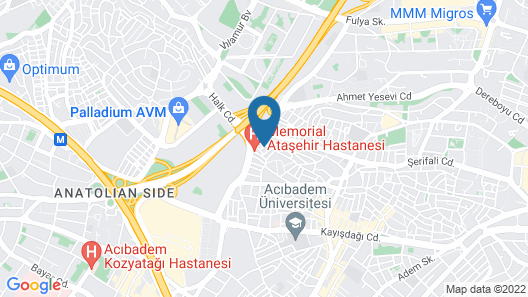 Asia City Hotel Istanbul Map