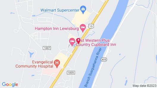 Best Western Plus Country Cupboard Inn Map