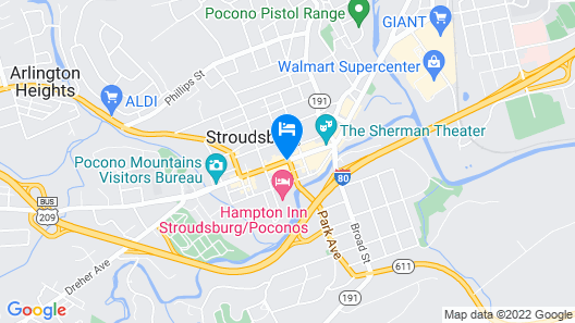 The Penn Stroud Hotel, Ascend Hotel Collection Map