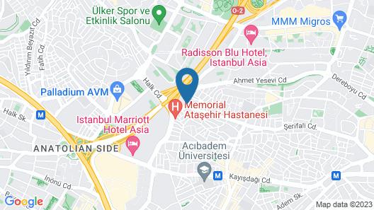 A11 Hotel Atasehir Map
