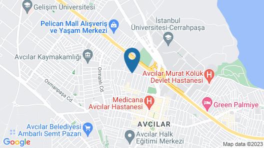 Avcilar Inci Hotel Map