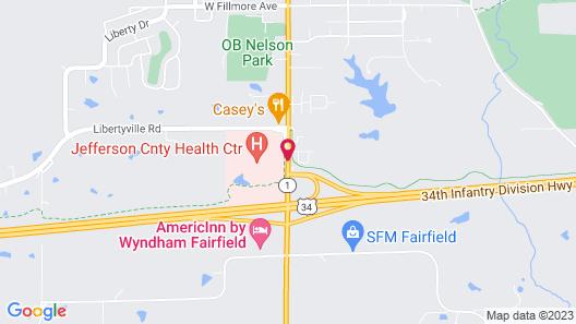 AmericInn by Wyndham Fairfield Map