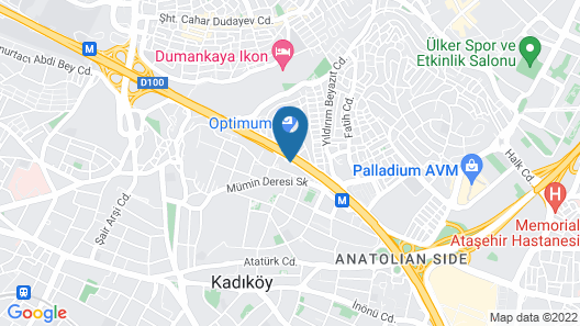 Hilton Istanbul Kozyatagi Map
