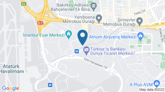 WOW Istanbul Hotel Map