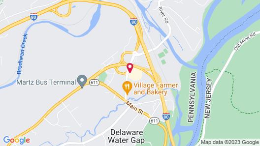 Rodeway Inn & Suites Stroudsburg - Poconos Map
