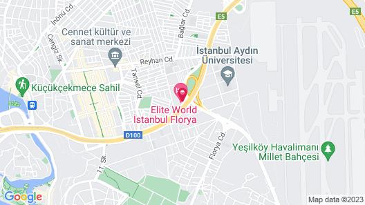 Elite World Business Hotel Map